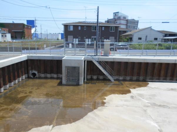 つくば市内雨水調整池