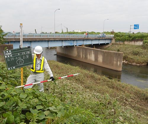 1級河川田川水位痕跡調査